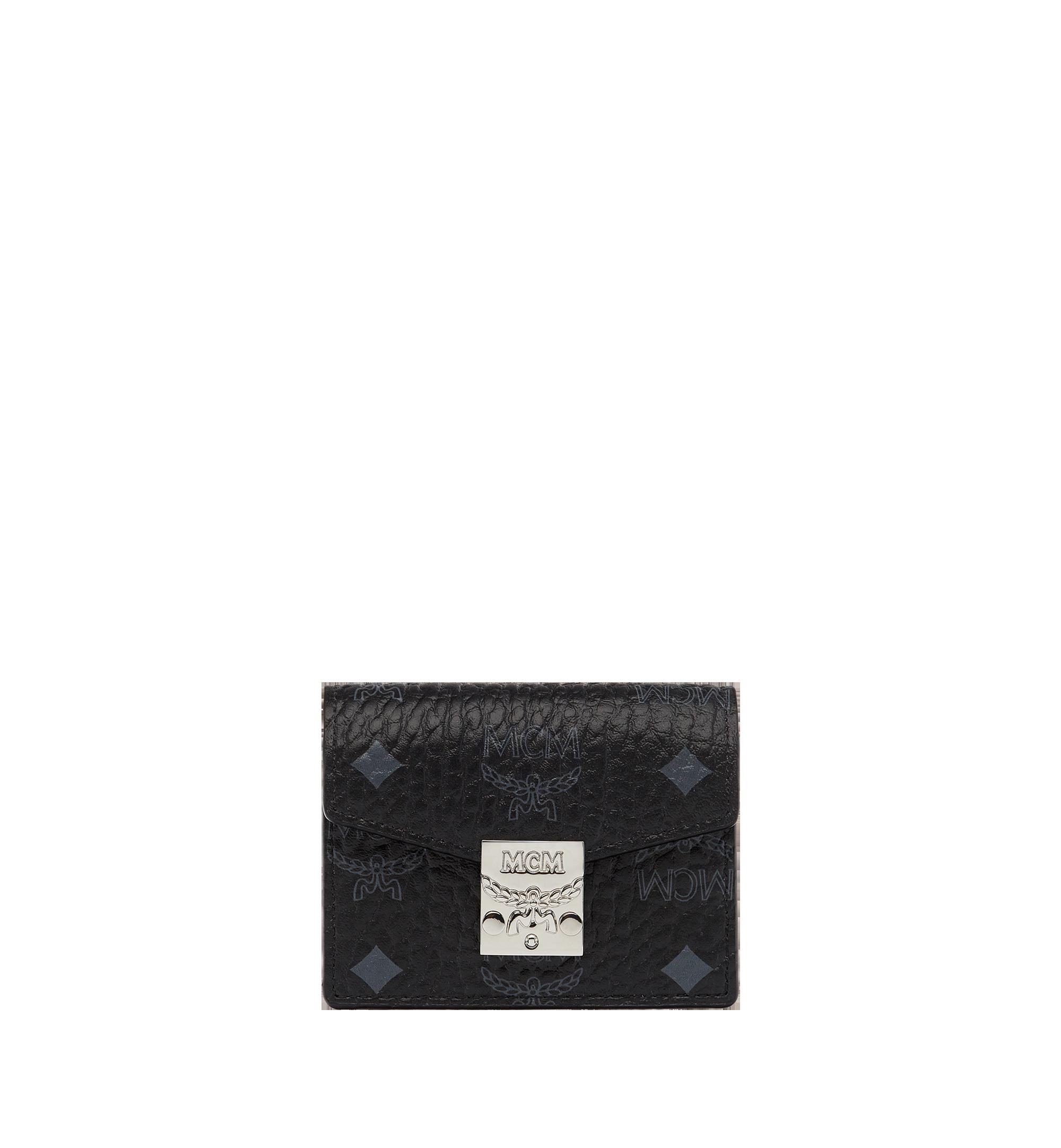 MCM Patricia Accordion Card Case in Visetos Black MYA7SPA14BK001 Alternate View 1