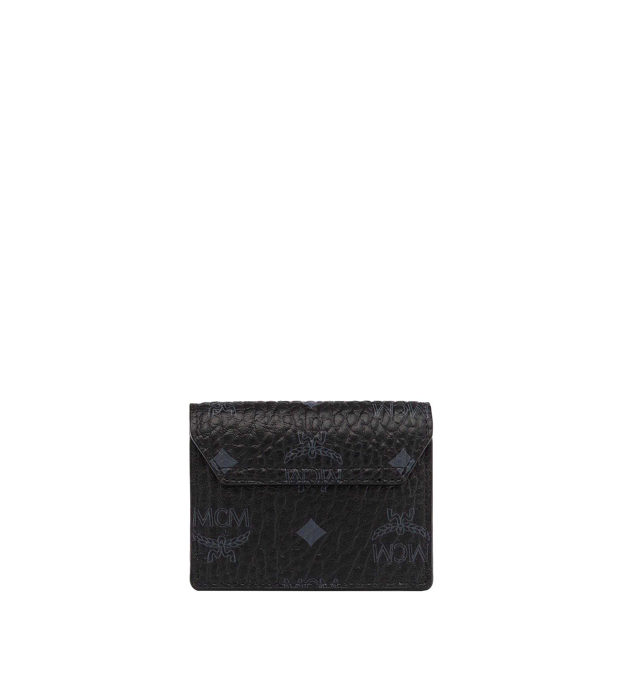 MCM Patricia Accordion Card Case in Visetos Black MYA7SPA14BK001 Alternate View 2