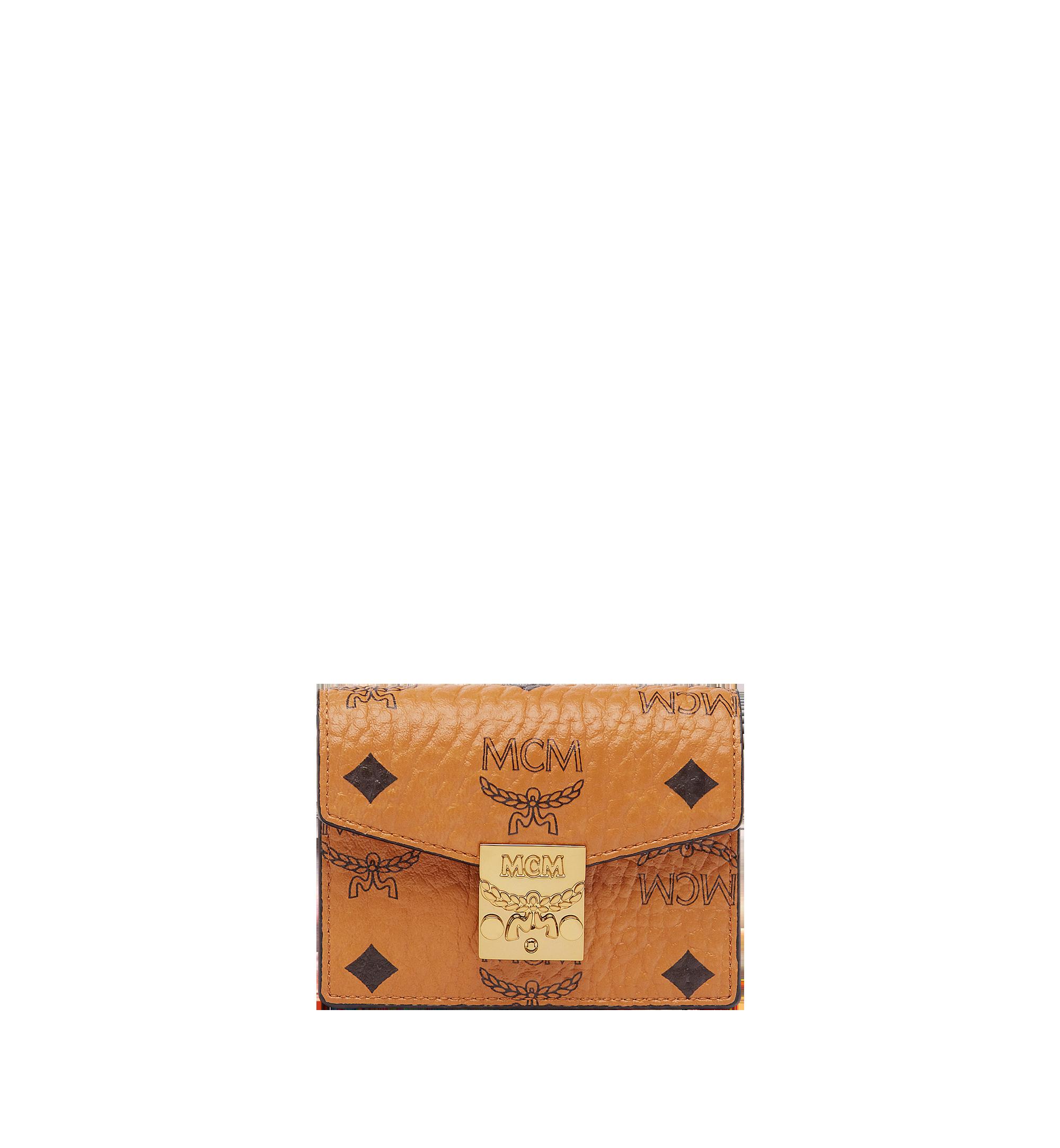 MCM Patricia Accordion Card Case in Visetos Cognac MYA7SPA14CO001 Alternate View 1
