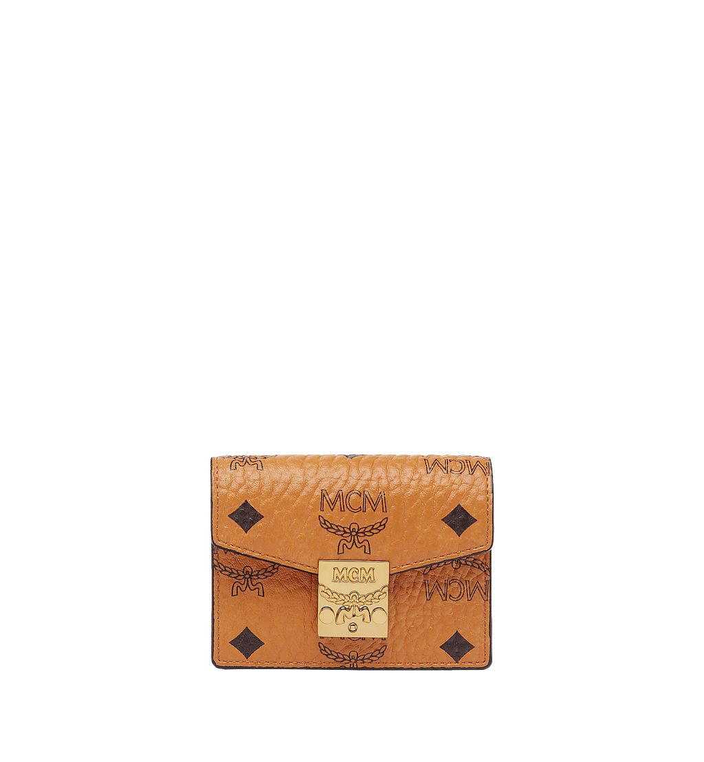 MCM Patricia Accordion Card Case in Visetos Cognac MYA7SPA14CO001 Alternate View 1