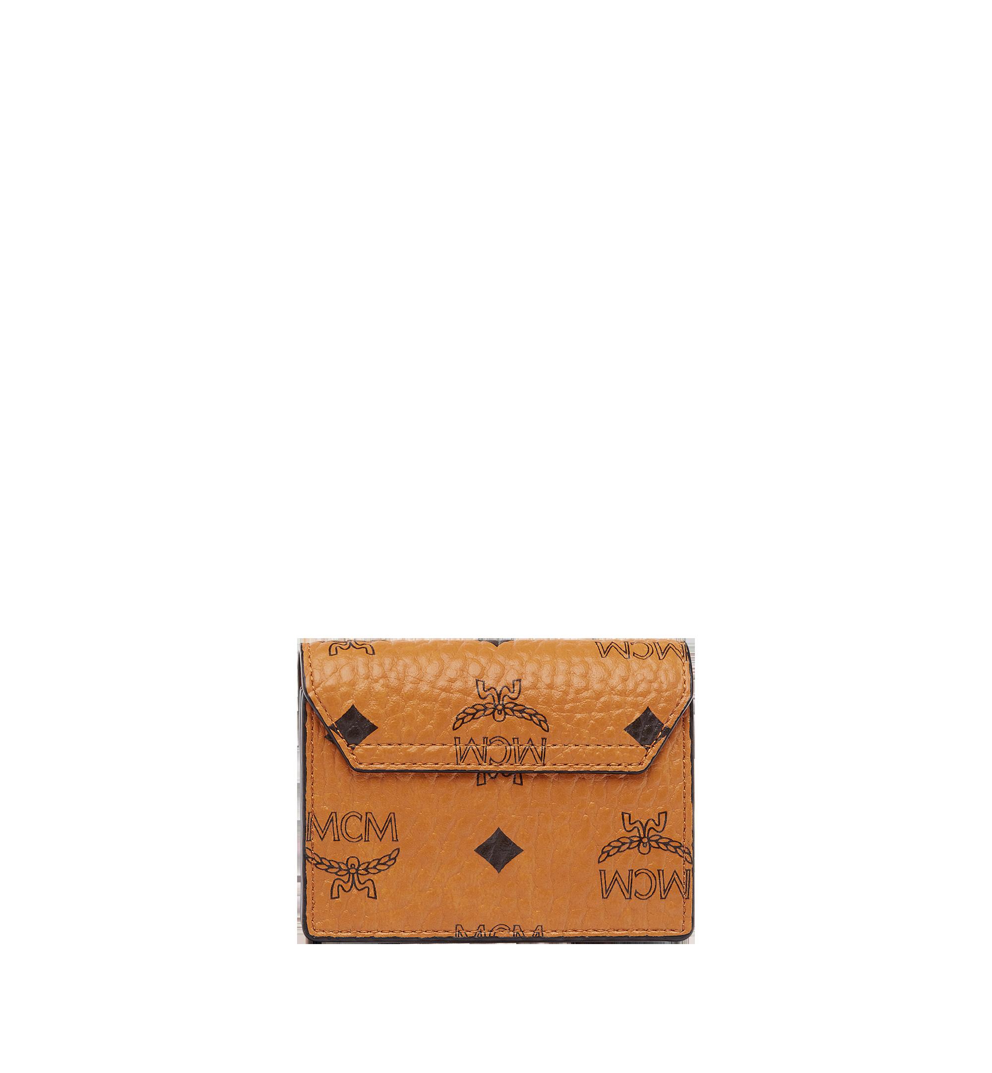 MCM Patricia Accordion Card Case in Visetos Cognac MYA7SPA14CO001 Alternate View 2