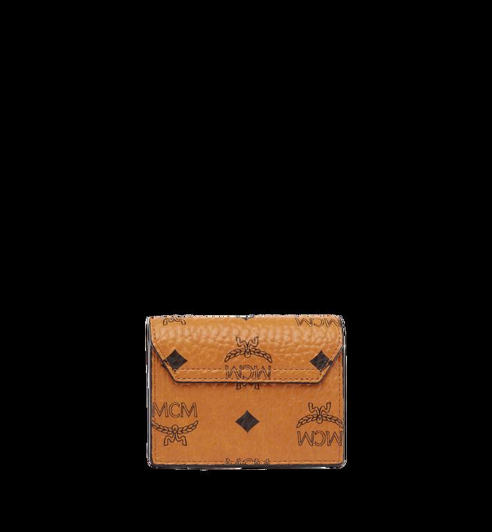 MCM Patricia Accordion Card Case in Visetos Cognac MYA7SPA14CO001 Alternate View 3