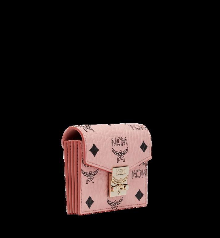 MCM Patricia Accordion Card Case in Visetos Pink MYA8SPA14PZ001 Alternate View 2
