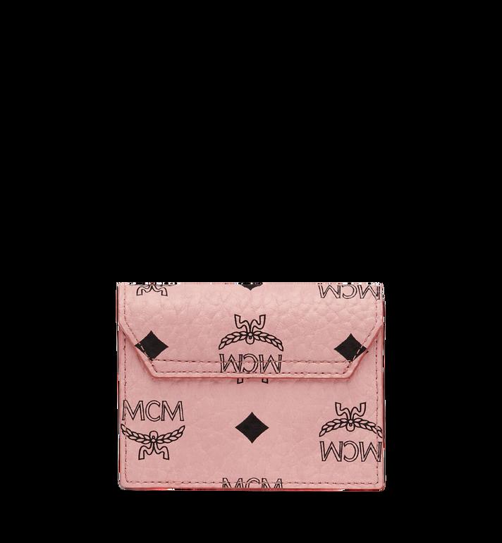 MCM Patricia Accordion Card Case in Visetos Pink MYA8SPA14PZ001 Alternate View 3