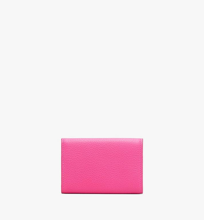 MCM Patricia Three-Fold Wallet in Park Avenue Leather Pink MYA9APA67QS001 Alternate View 2