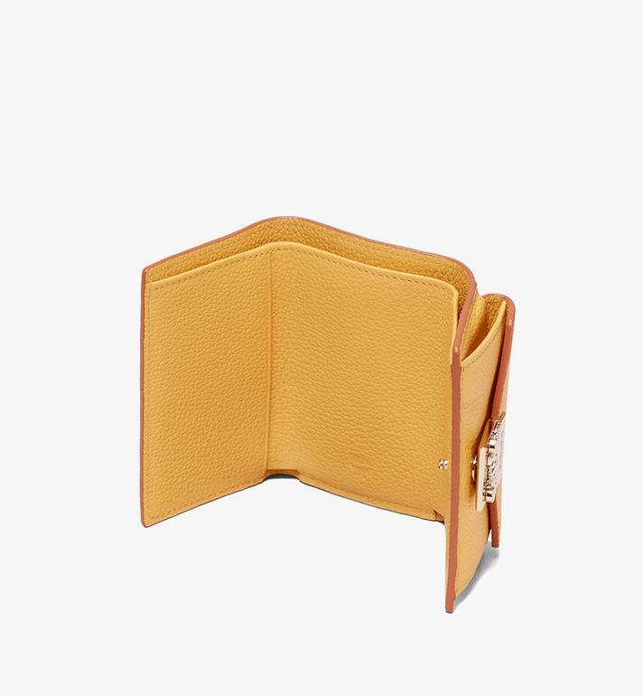 MCM Patricia Three-Fold Wallet in Park Avenue Leather Yellow MYA9APA67YJ001 Alternate View 3