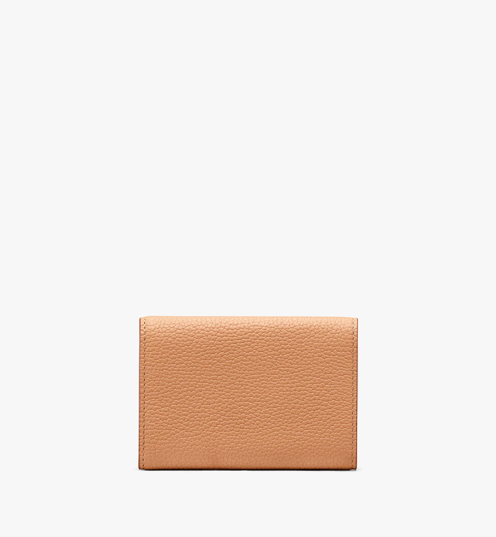 MCM Patricia Three-Fold Wallet in Studded Park Ave Leather Beige MYA9APA86BC001 Alternate View 2