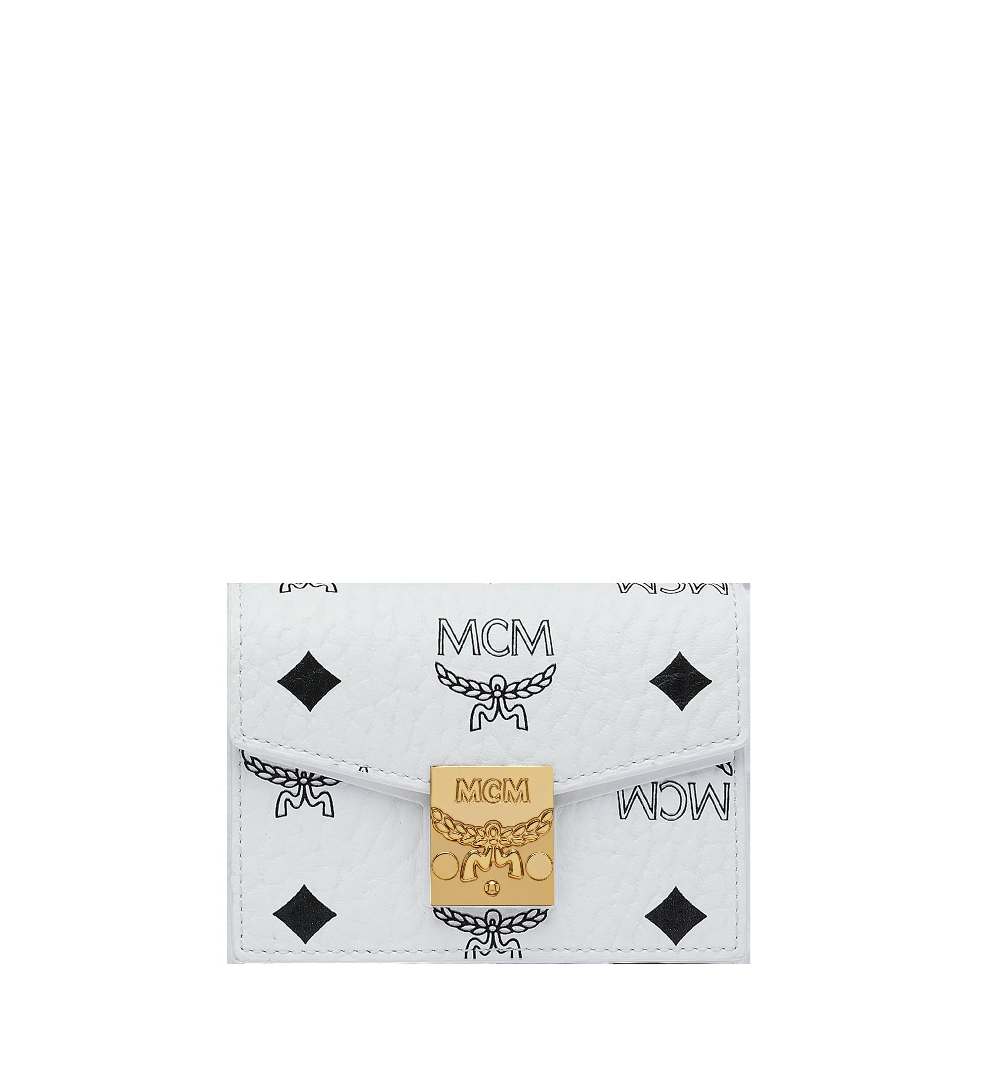 MCM Patricia Card Holder in Visetos White MYA9SPA14WT001 Alternate View 1