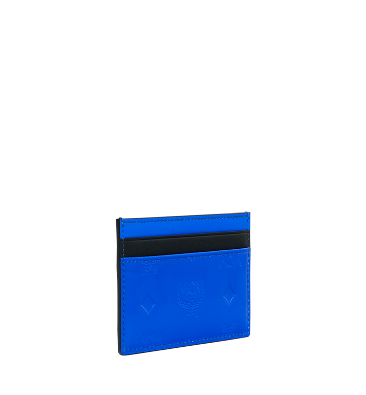 MCM Patricia Card Case in Monogram Patent Leather Blue MYA9SPA44HW001 Alternate View 2