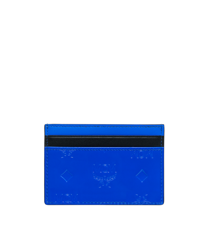 MCM Patricia Card Case in Monogram Patent Leather Blue MYA9SPA44HW001 Alternate View 3