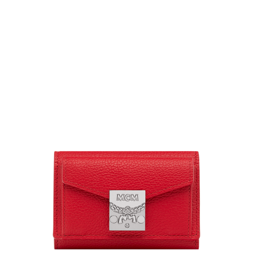 Patricia Three Fold Wallet in Grained Leather