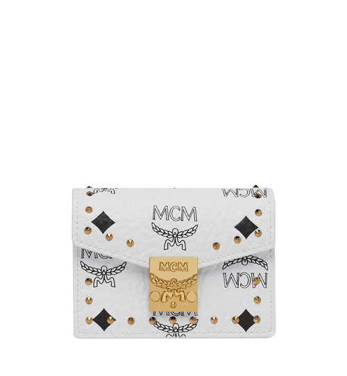 Patricia Card Holder in Studded Outline Visetos