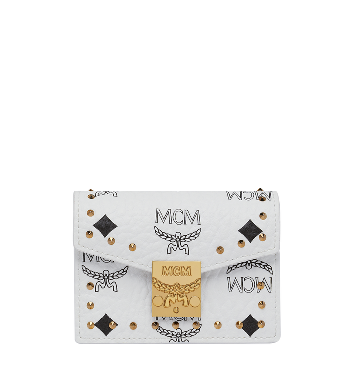 MCM Patricia Card Holder in Studded Outline Visetos Alternate View