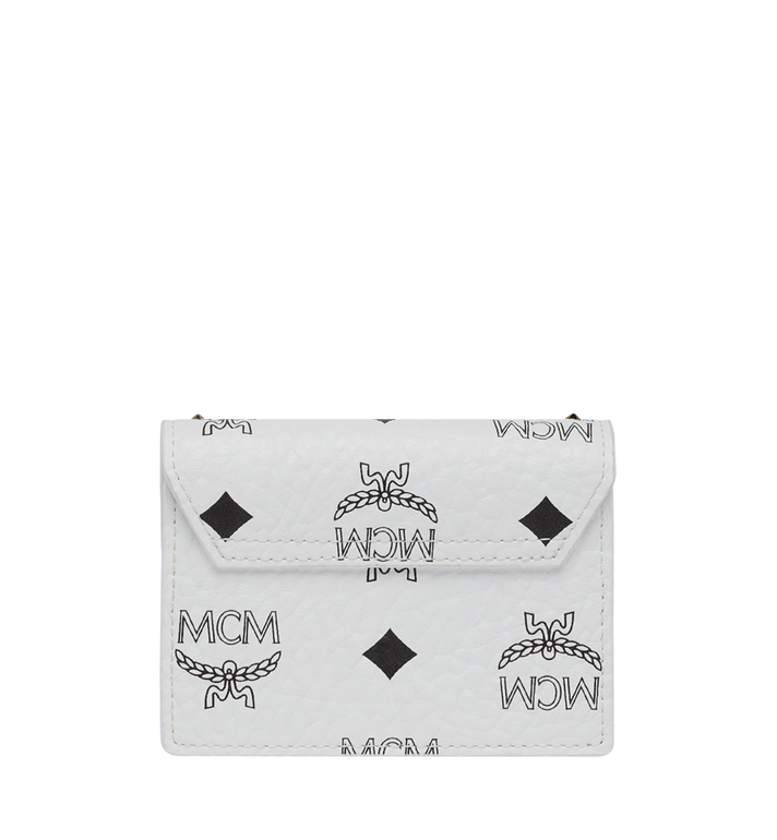 MCM Patricia Card Holder in Studded Outline Visetos White MYA9SPA81WT001 Alternate View 3