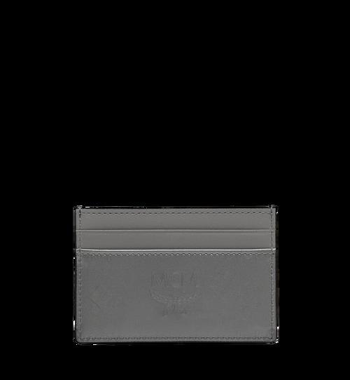 Porte-cartes en cuir verni monogrammé