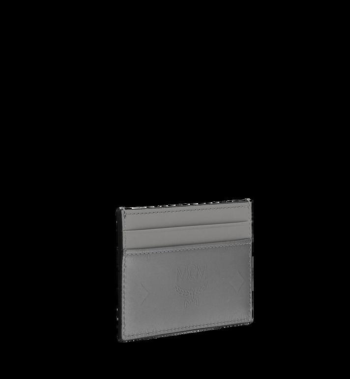MCM Porte-cartes en cuir verni monogrammé Grey MYA9SPM05EG001 Alternate View 2