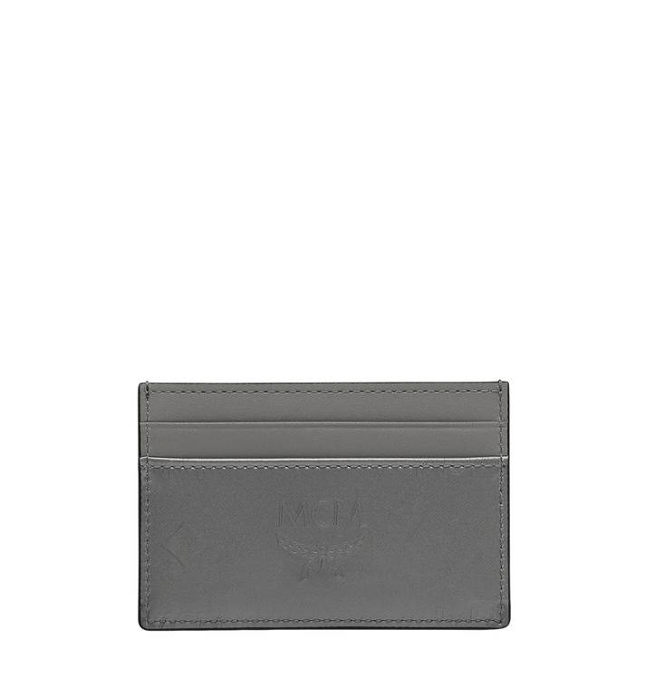 MCM Porte-cartes en cuir verni monogrammé Grey MYA9SPM05EG001 Alternate View 3