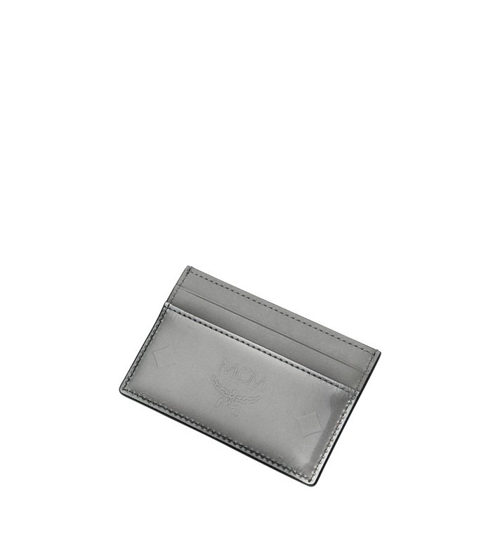 MCM Porte-cartes en cuir verni monogrammé Grey MYA9SPM05EG001 Alternate View 4
