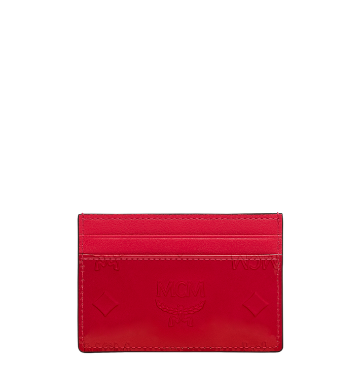 MCM Card Case in Monogram Patent Leather Alternate View 3