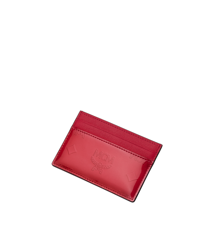 MCM Card Case in Monogram Patent Leather Alternate View 4