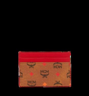 MCM Card Case in Skyoptic Visetos Cognac MYA9SSV67CA001 Alternate View 3
