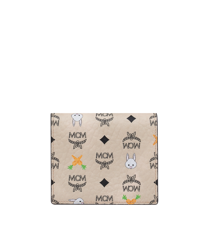 MCM Two Fold Flat Wallet in Rabbit Carrot Visetos Alternate View