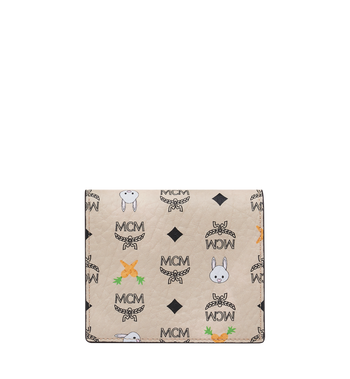 MCM Two Fold Flat Wallet in Rabbit Carrot Visetos AlternateView