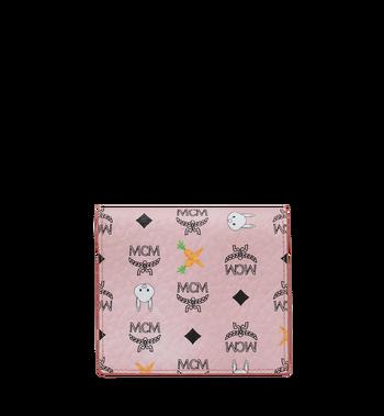 MCM Two Fold Flat Wallet in Rabbit Carrot Visetos Alternate View