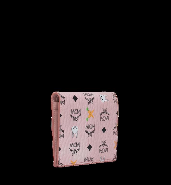 MCM Two Fold Flat Wallet in Rabbit Carrot Visetos AlternateView2
