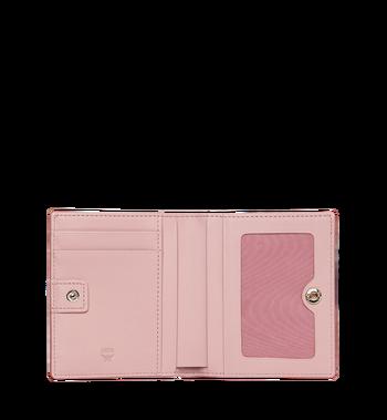 MCM Two Fold Flat Wallet in Rabbit Carrot Visetos AlternateView4
