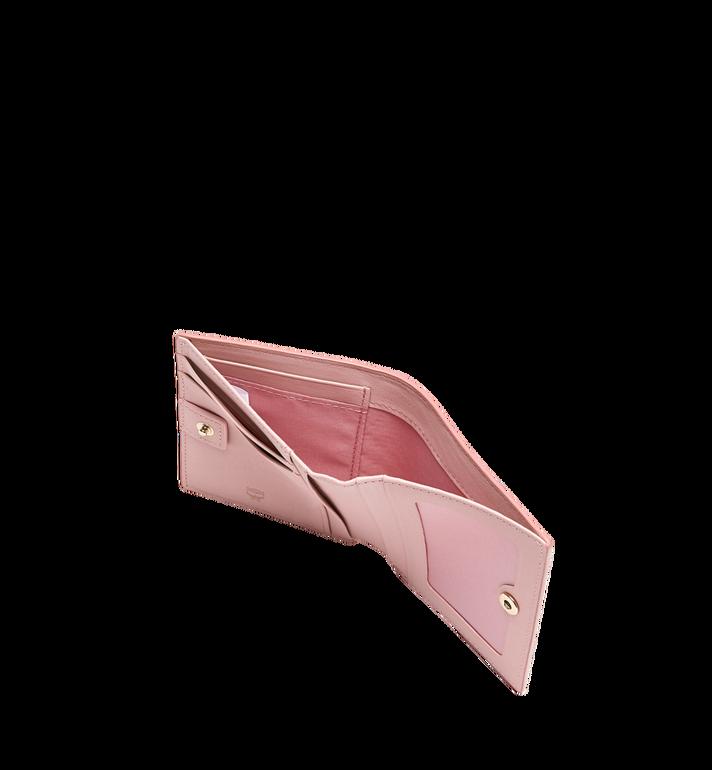 MCM Two Fold Flat Wallet in Rabbit Carrot Visetos AlternateView5