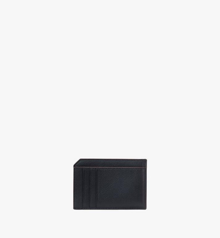 MCM Klara Multifunction Card Holder in Monogram Leather Black MYAAAKM01BK001 Alternate View 3