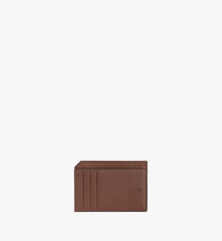 MCM Klara Multifunction Card Holder in Monogram Leather Brown MYAAAKM01N5001 Alternate View 3