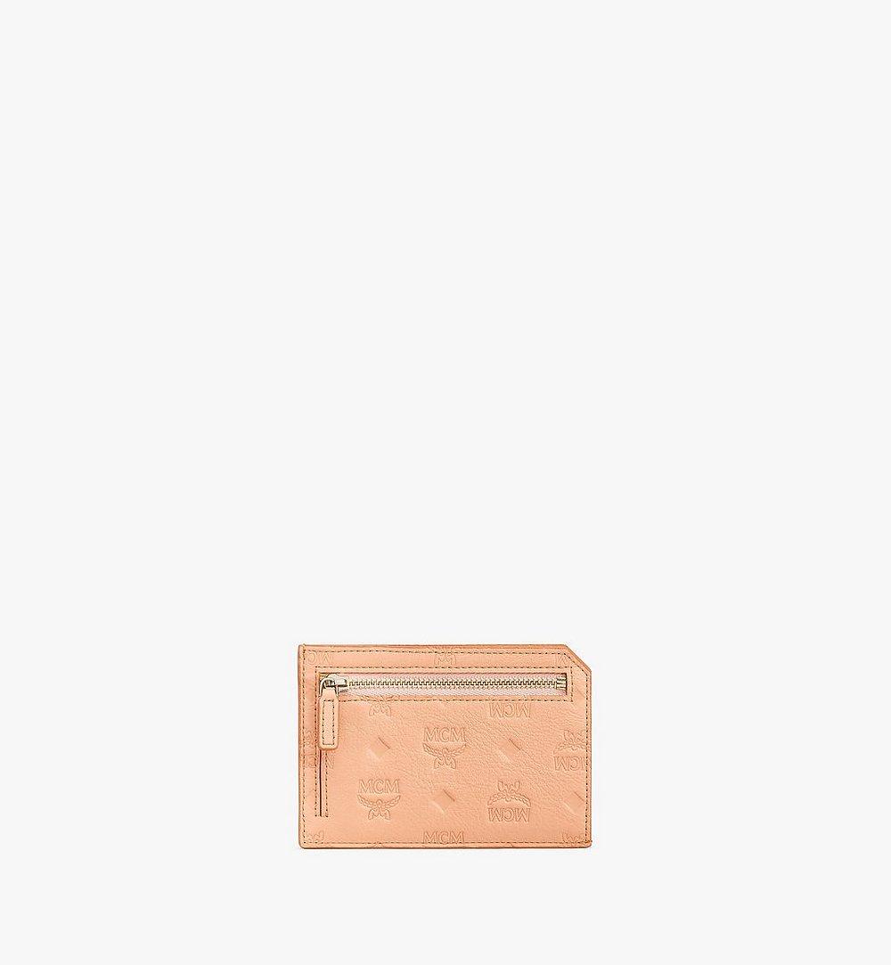 MCM Klara Multifunction Card Holder in Monogram Leather Beige MYAAAKM01N6001 Alternate View 1