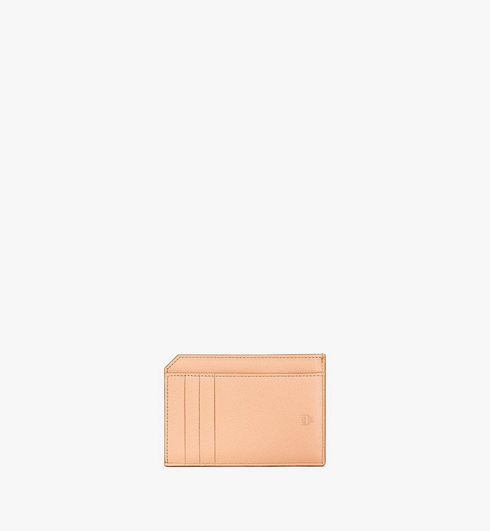 MCM Klara Multifunction Card Holder in Monogram Leather Beige MYAAAKM01N6001 Alternate View 2