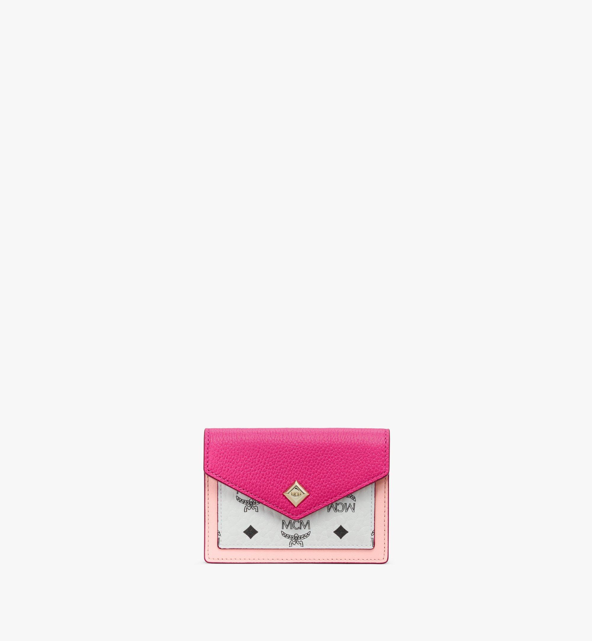 MCM Love Letter Wallet in Color Block Leather Pink MYAAALV01QJ001 Alternate View 1