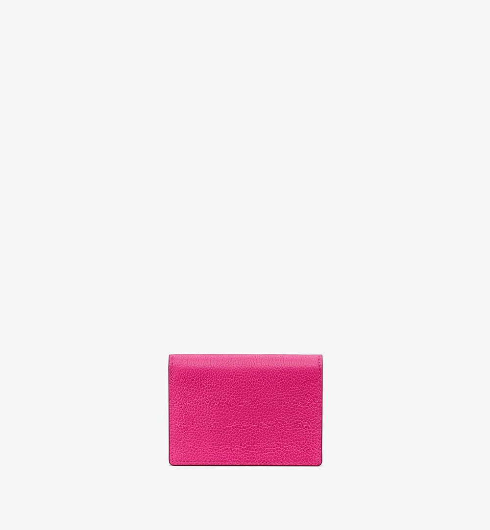 MCM Love Letter Wallet in Color Block Leather Pink MYAAALV01QJ001 Alternate View 2