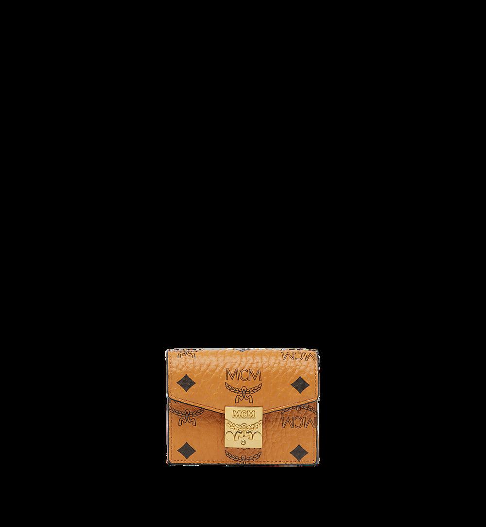 MCM Patricia Accordion Card Holder in Visetos Cognac MYAAAPA01CO001 Alternate View 1