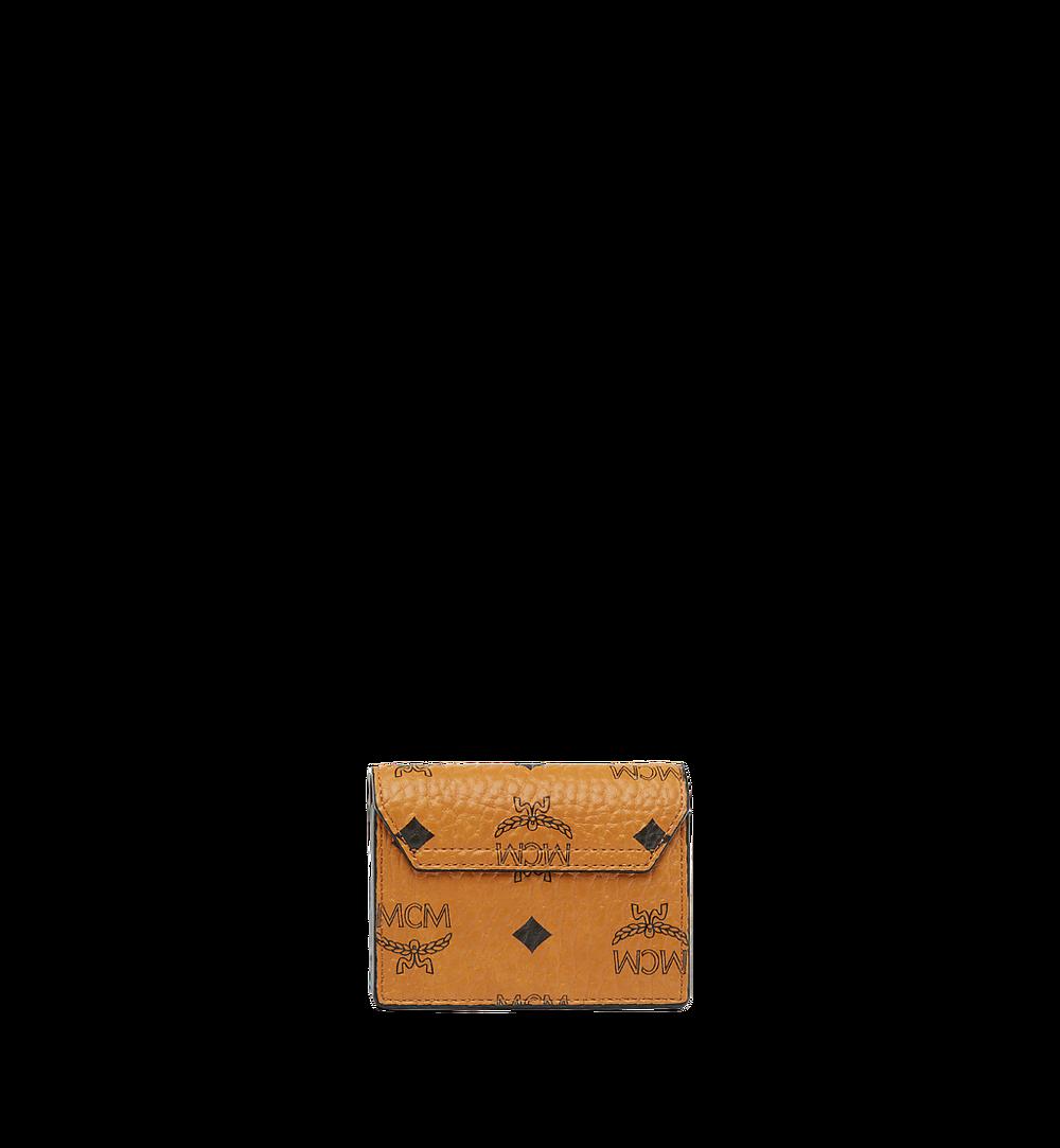 MCM Patricia Accordion Card Holder in Visetos Cognac MYAAAPA01CO001 Alternate View 2