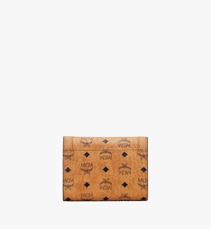 MCM Berlin Series Mini Wallet in Visetos Cognac MYAASBN01CO001 Alternate View 2