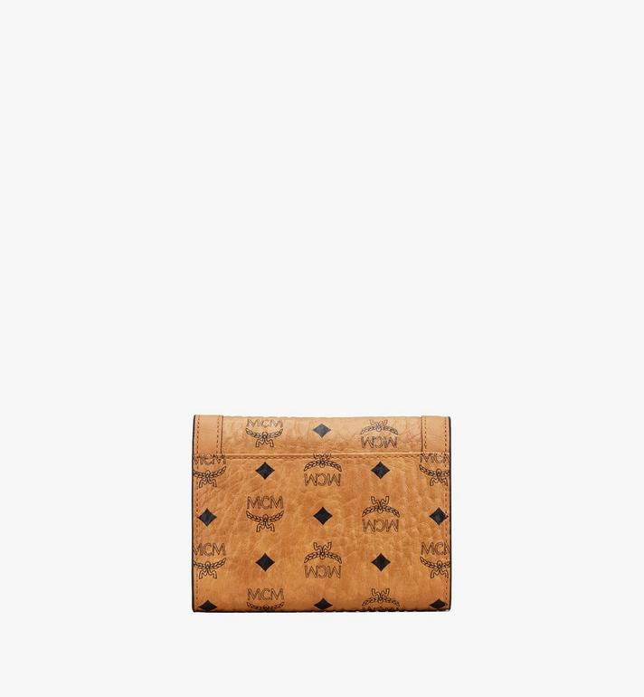 MCM Berlin Series Mini Wallet in Visetos Cognac MYAASBN01CO001 Alternate View 2