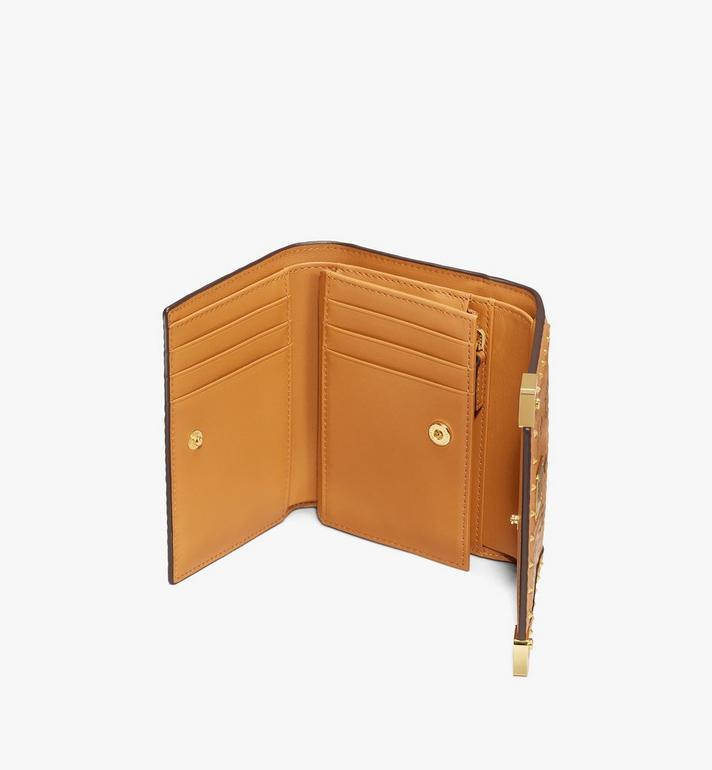 MCM Berlin Series Mini Wallet in Visetos Cognac MYAASBN01CO001 Alternate View 3