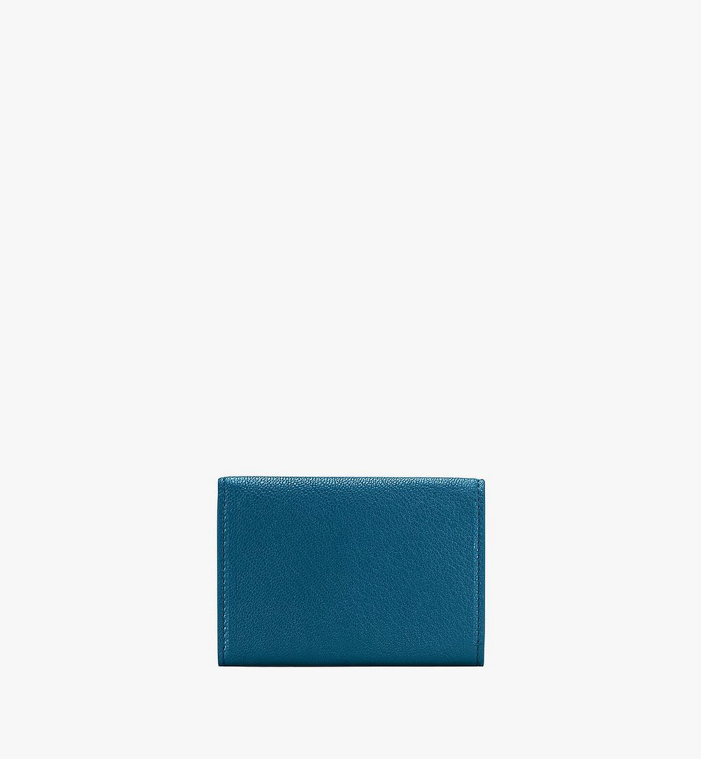 MCM Milano Trifold Wallet Blue MYAASDA01JF001 Alternate View 1