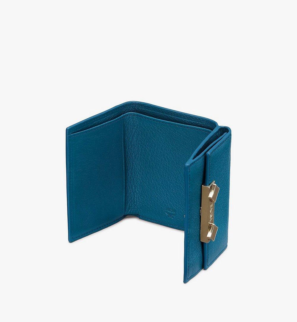 MCM Milano Trifold Wallet Blue MYAASDA01JF001 Alternate View 2