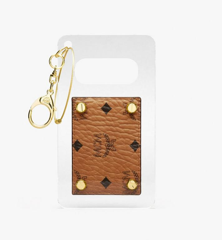 MCM MCM by PHENOMENON Acrylic Disk Card Case in Visetos Cognac MYAASJP01CO001 Alternate View 2