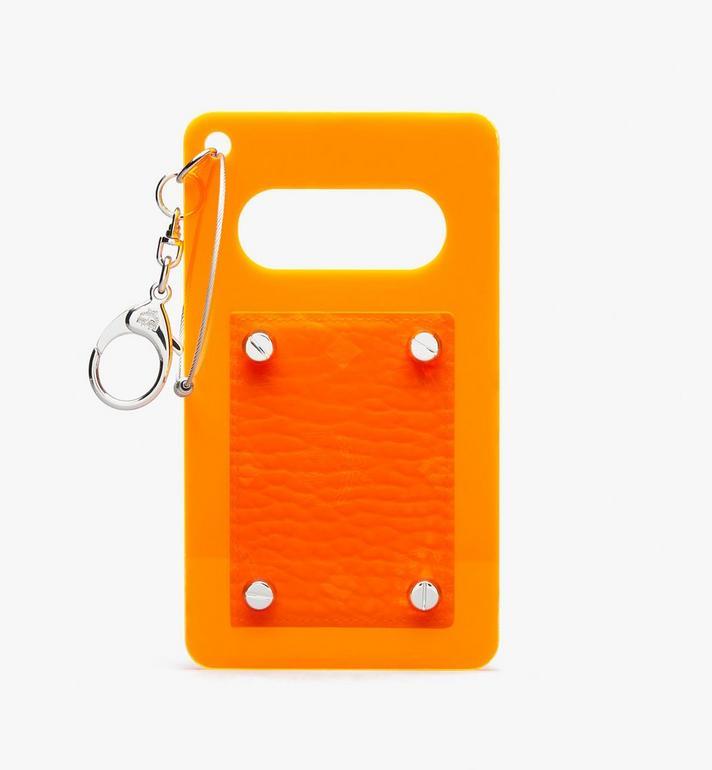 MCM MCM by PHENOMENON Acrylic Disk Card Case in Visetos Orange MYAASJP03OW001 Alternate View 2