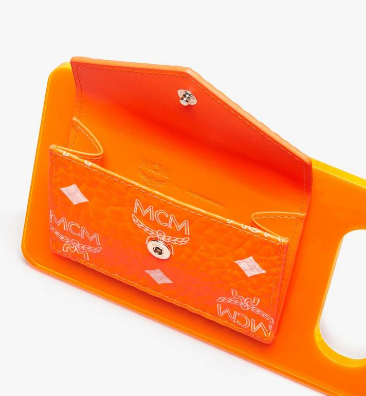 MCM MCM by PHENOMENON Acrylic Disk Coin Pouch in Visetos Orange MYAASJP04OW001 Alternate View 2
