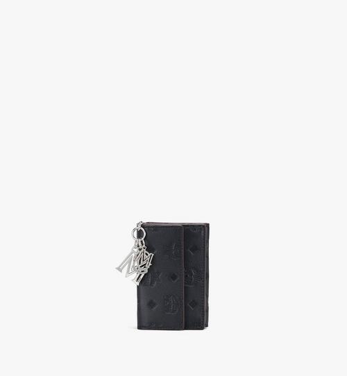 클라라 모노그램드 레더 참 미니 3단 지갑