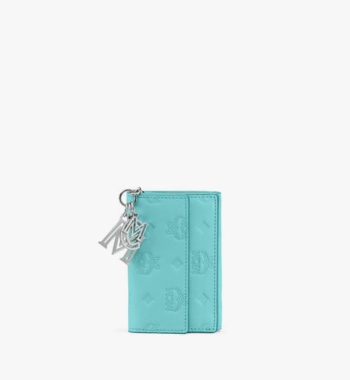 Dreifach gefaltete Klara Mini-Brieftasche aus Leder mit Monogramm