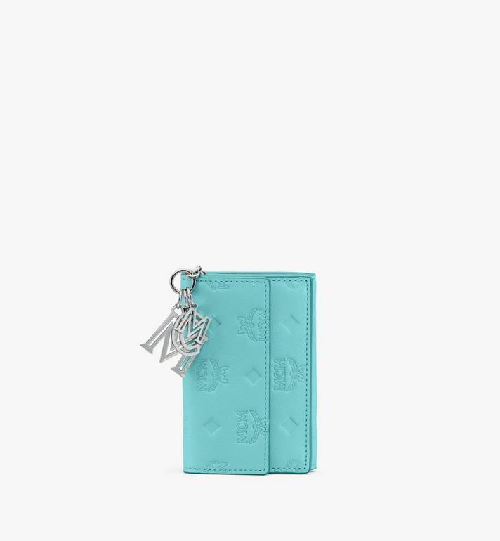 MCM Dreifach gefaltete Klara Mini-Brieftasche aus Leder mit Monogramm Alternate View